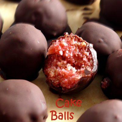 Cake Balls oder Kuchen Trüffel